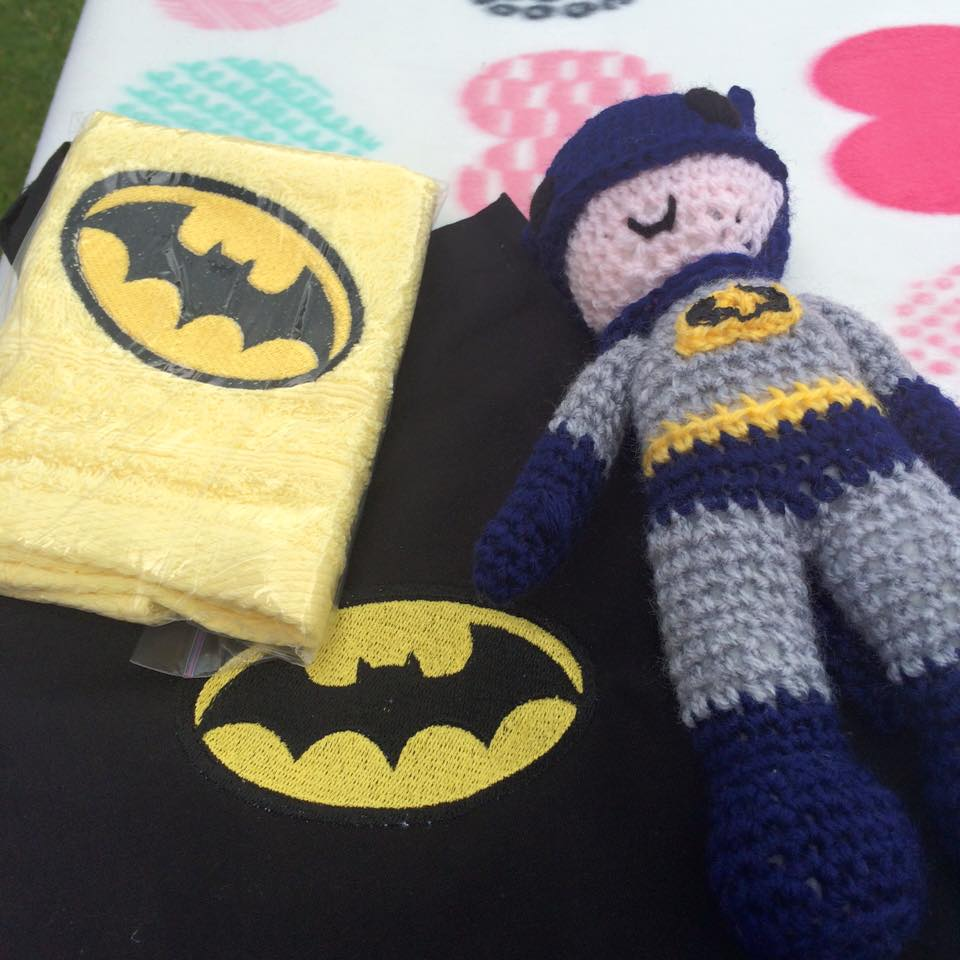 Batman logo design on towel19