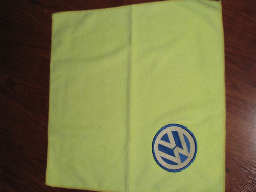 Volkswagen logo design embroidered on towel