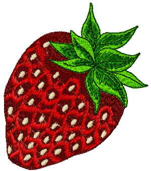Strawberry free embroidery design