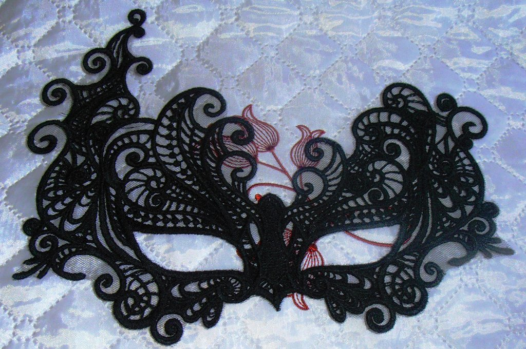 mask lace embroidered