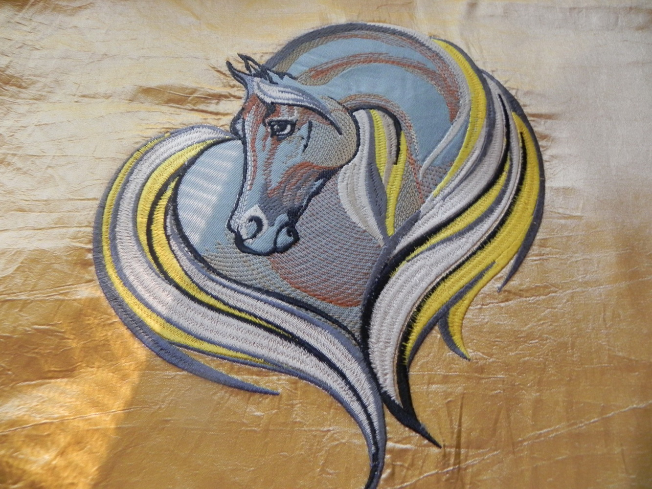 Sad horse machine embroidery design