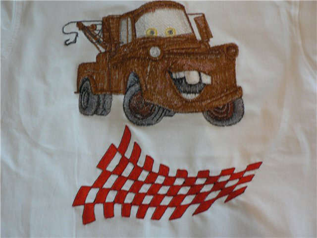 Cars collection Mater machine embroidery design