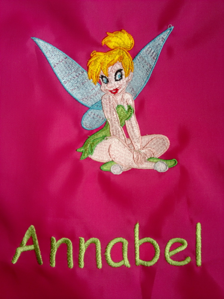 Tinkerbell  design embroidered