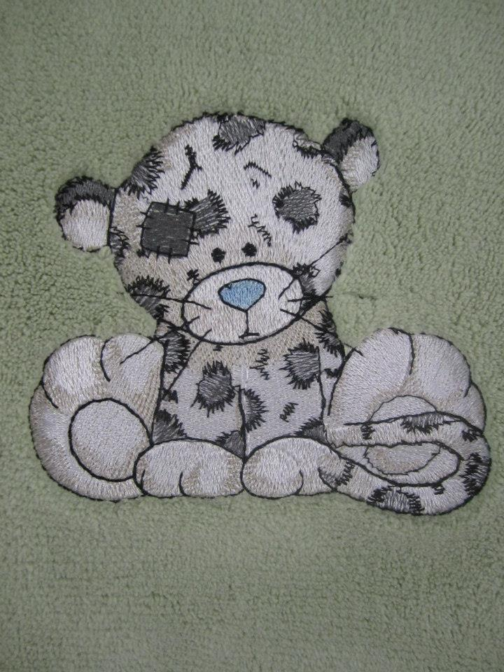Leo the leopard design embroidered