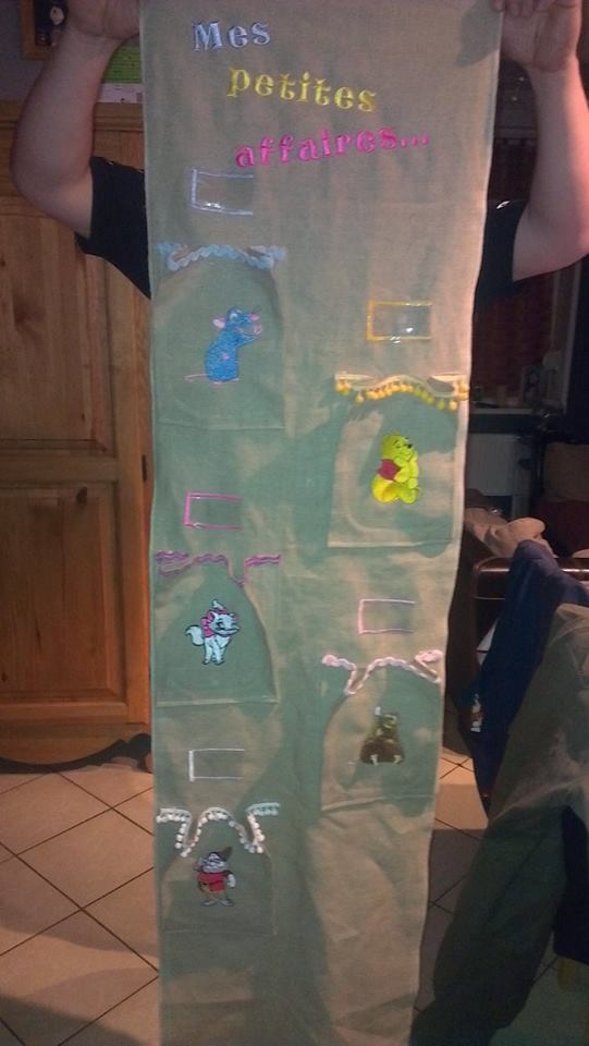 Disney cartoon heroes embroidered on kid's organizer