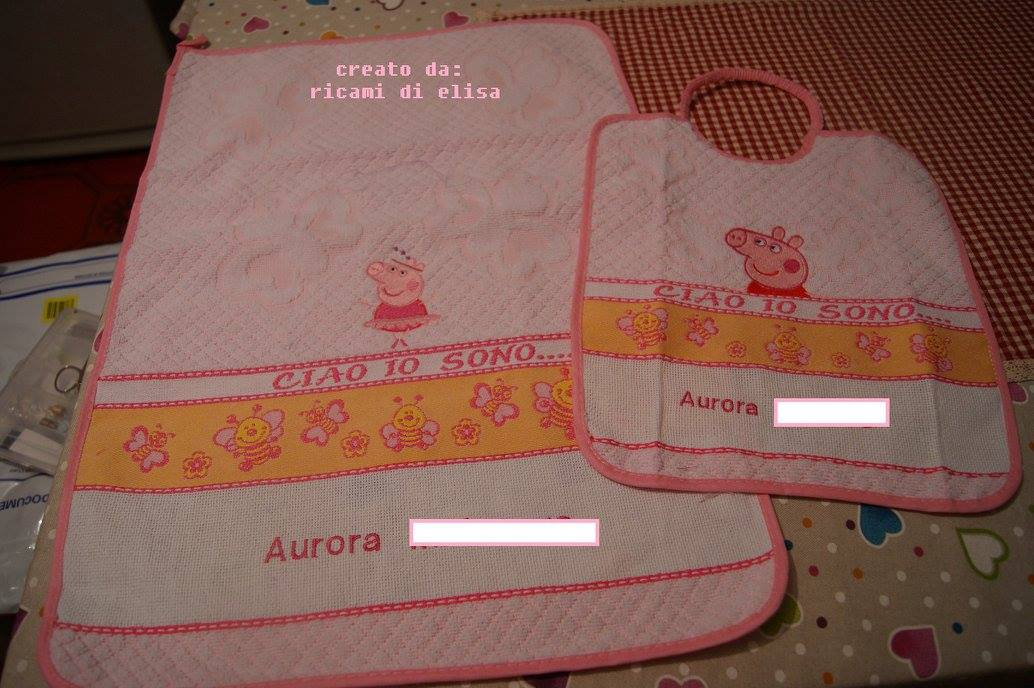 Peppa Pig designs on towels4
