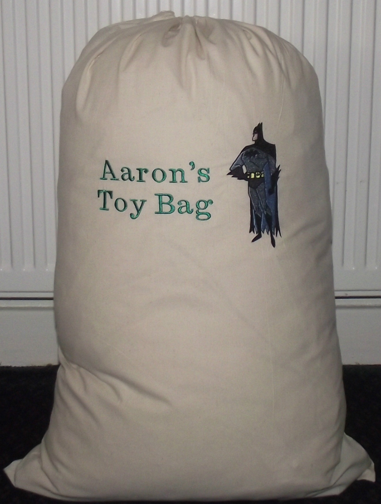 Toys bag with Barman embroidery design