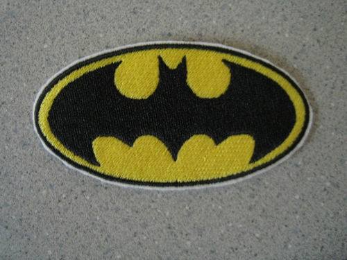 Batman logo design embroidered