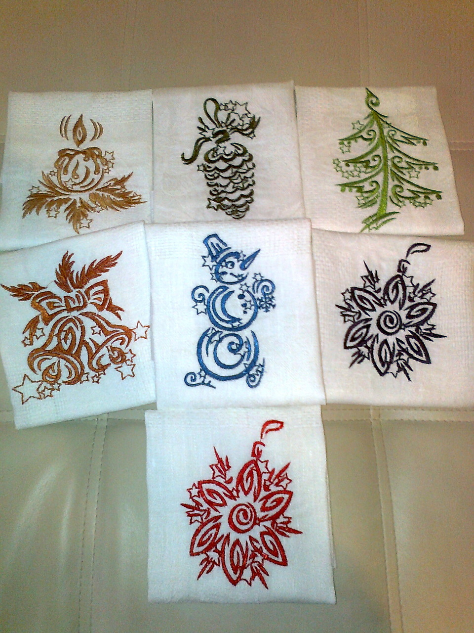 Christmas designs embroidered