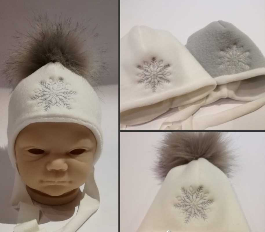 Embroidered winter hat for newborn