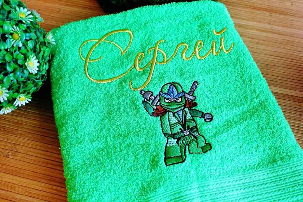 Towels with LEGO Ninjago embroidery