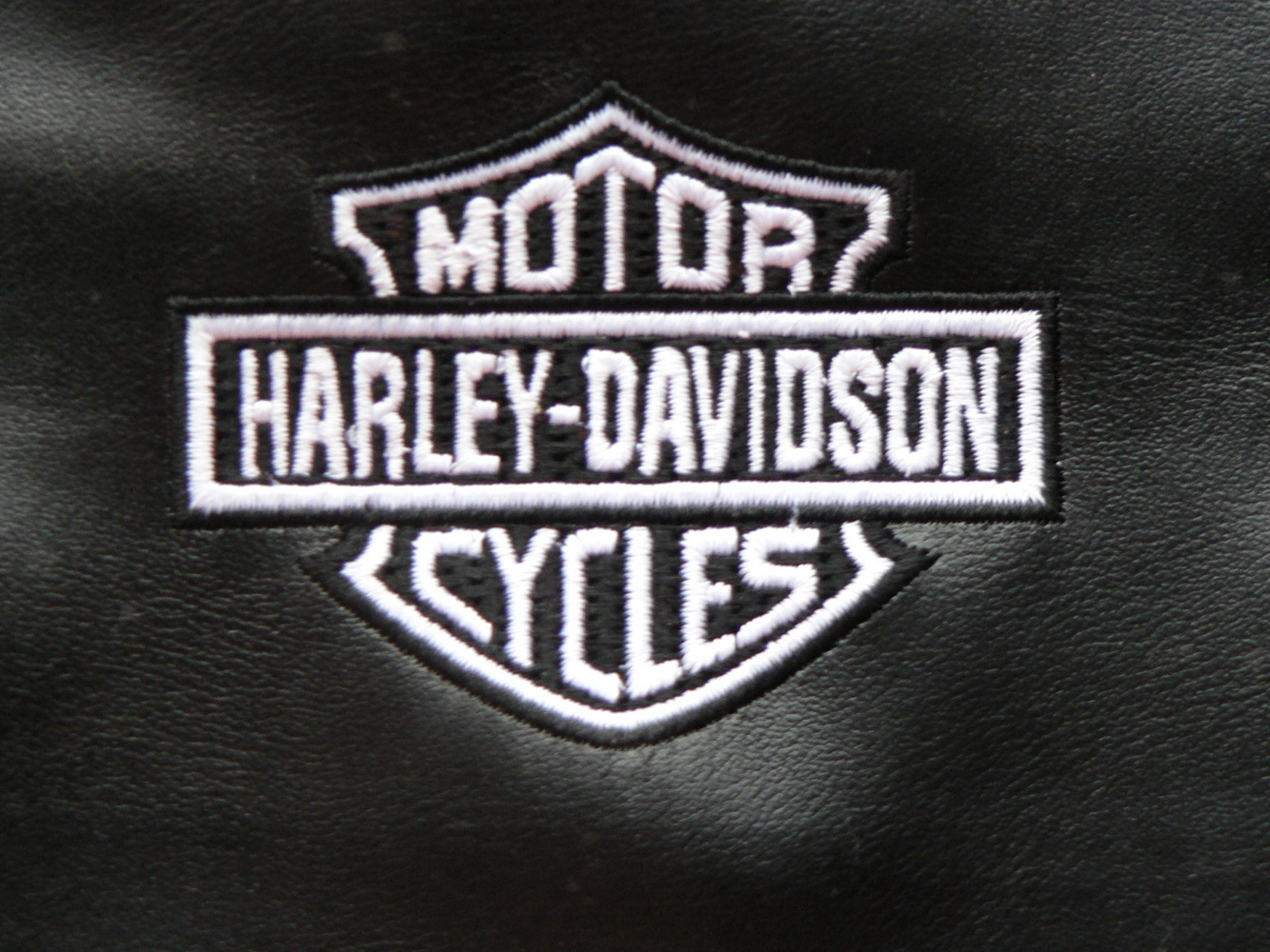 Harley Davidson design embroidered