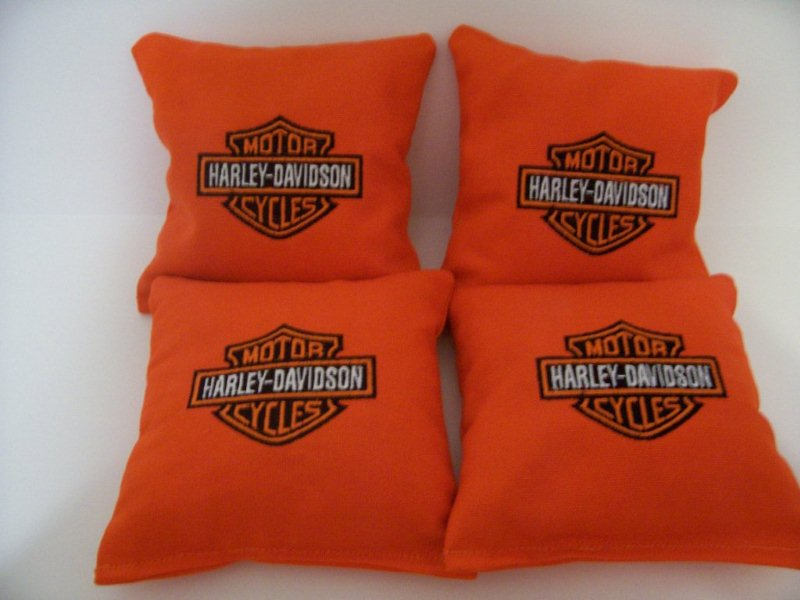 Harley Davidson design on pillowcase