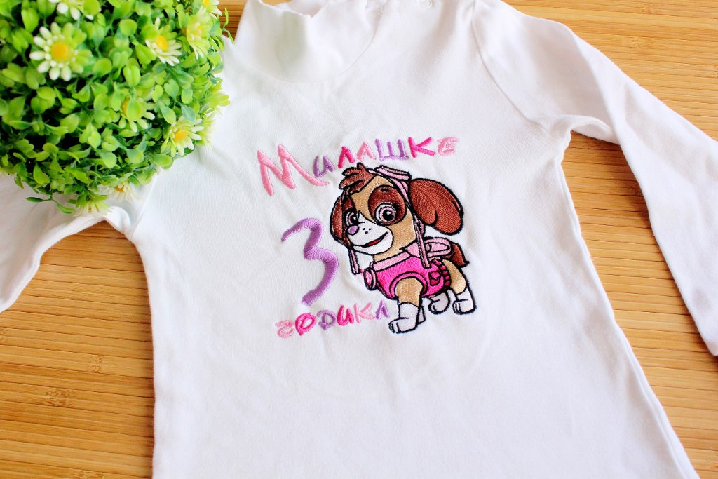 shirt with skye embroidery design