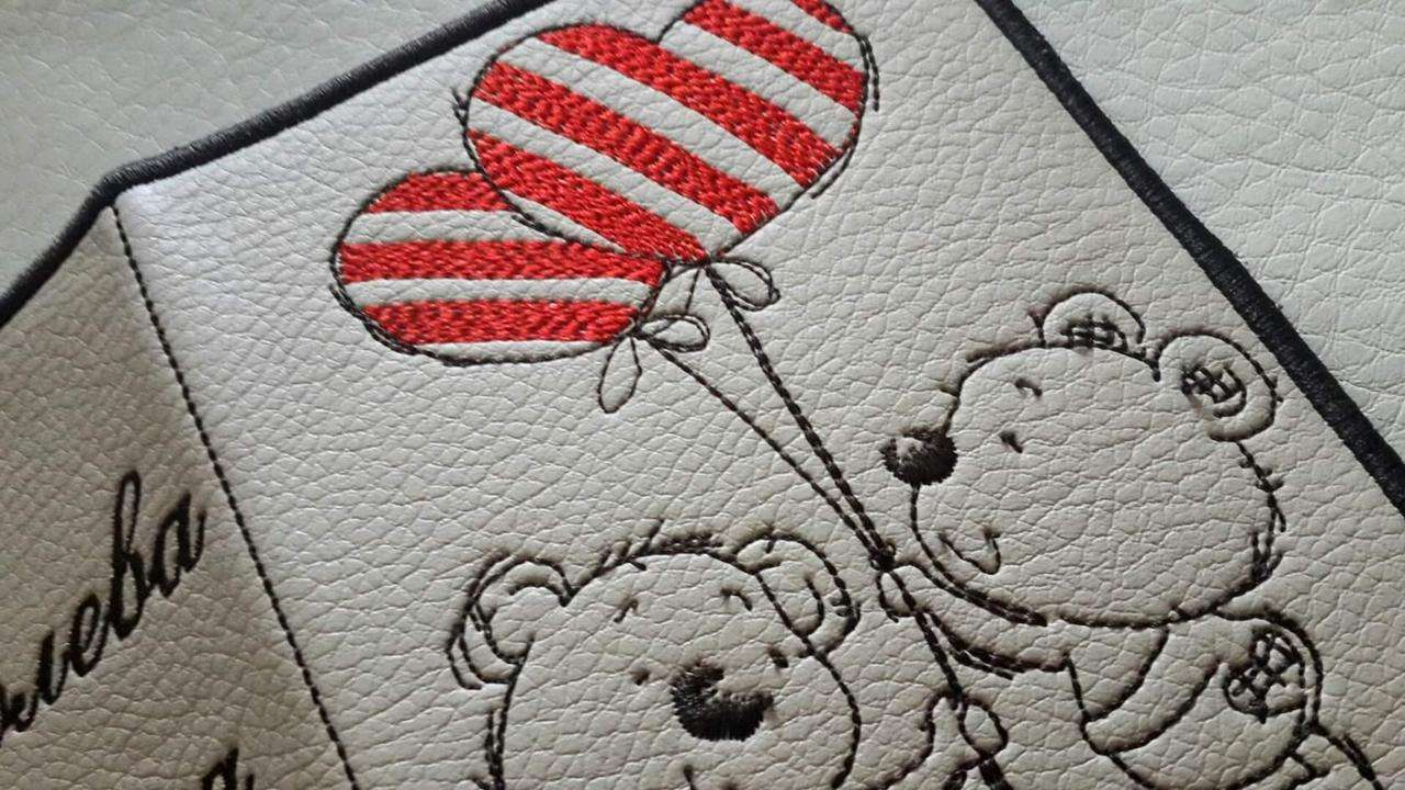 Id cover with Teddy Bear free embroidery design