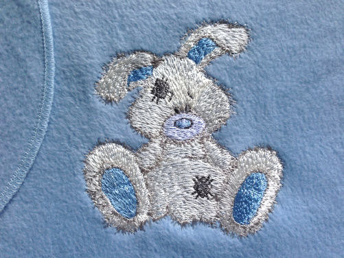 Towel embroidered with Snowdrop design