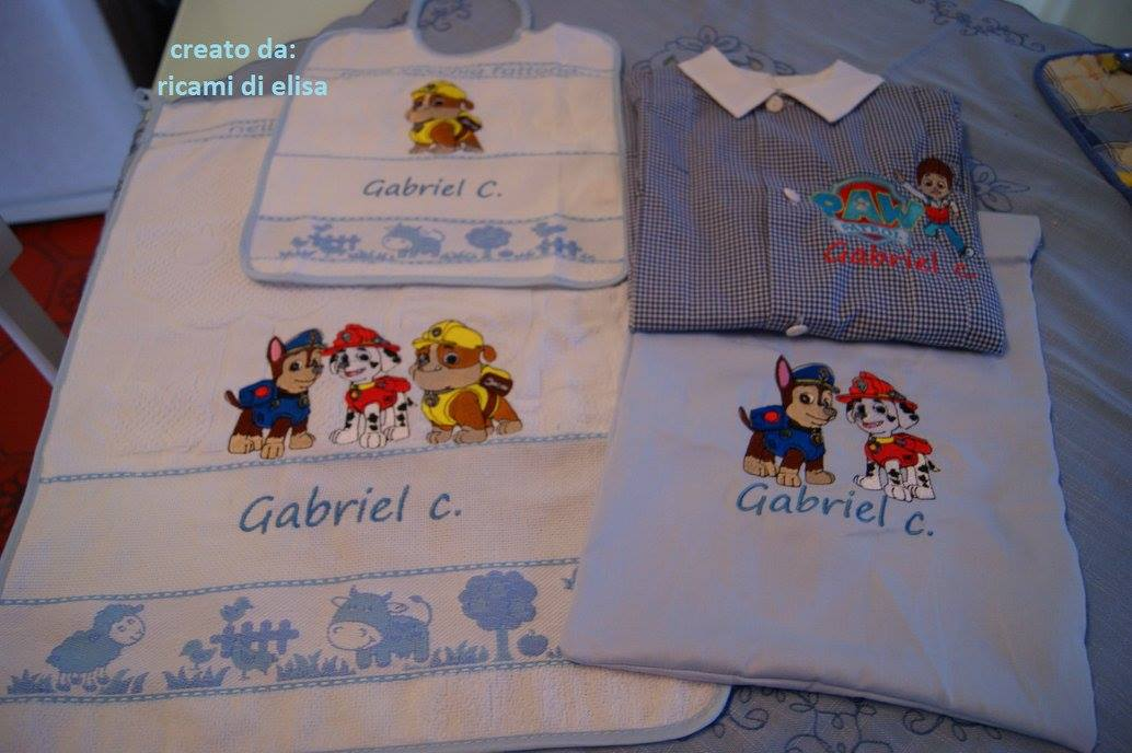 Paw Patrol designs embroidered