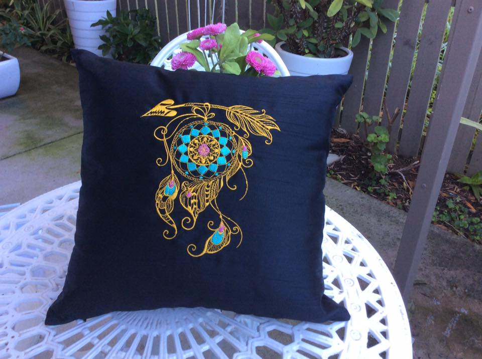 dreamcatcher embroidered pillowcase
