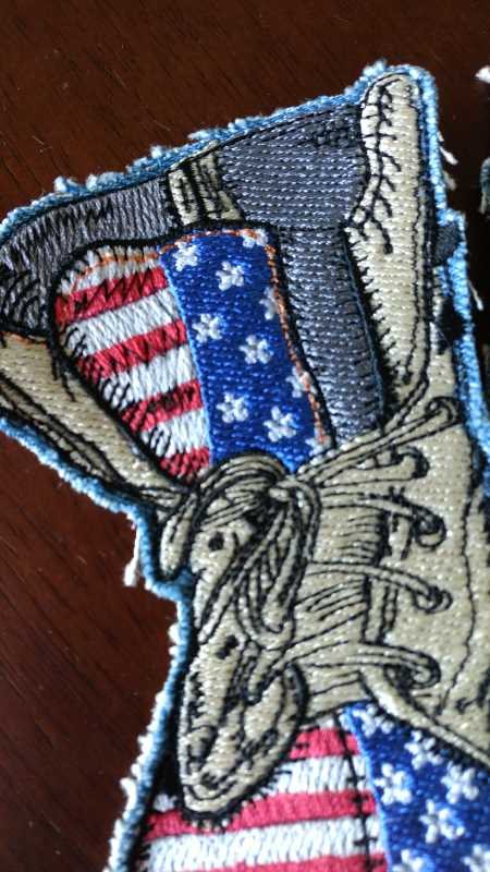 usa military style embroidery design
