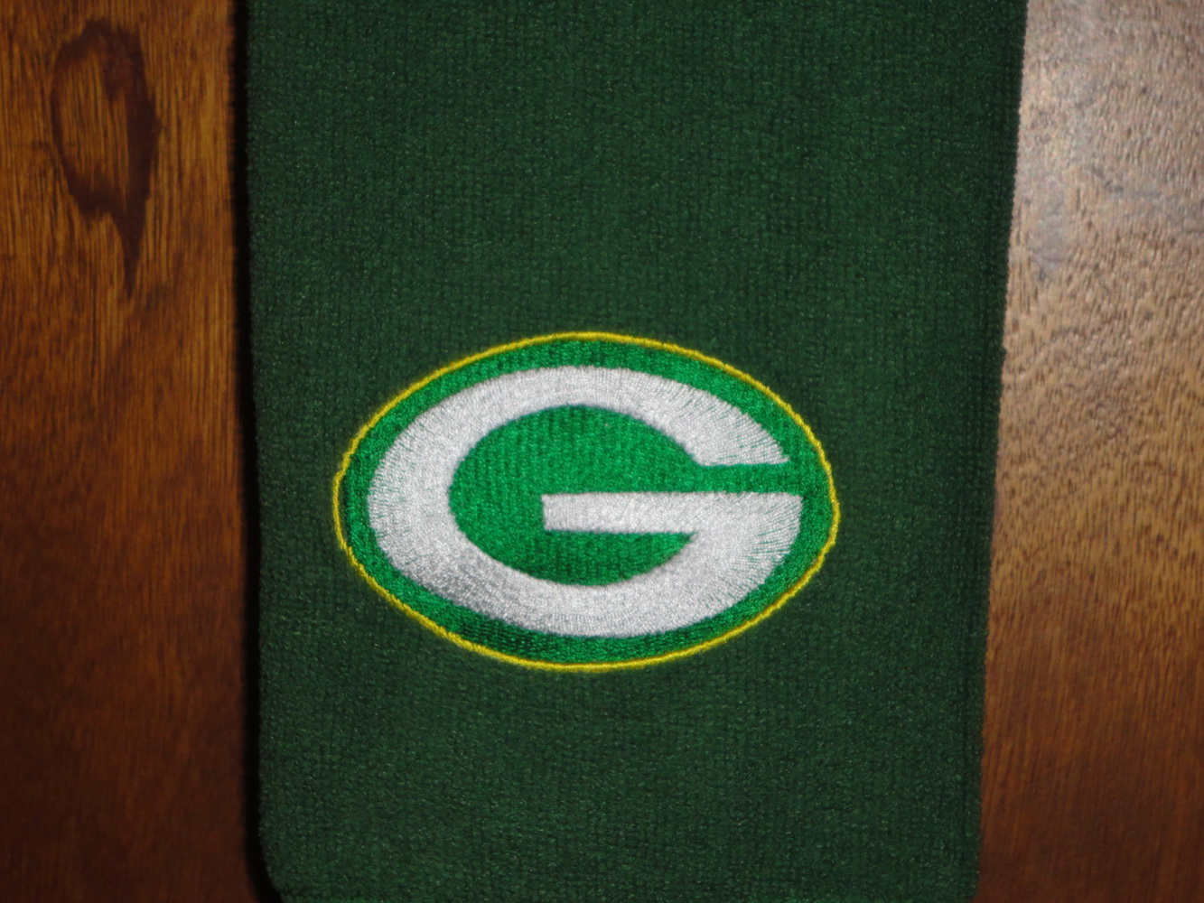 Green Bay Packers Logo embroidered on scarf