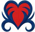 Tribal heart free embroidery design 4