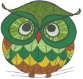 Autumn forest owl embroidery design