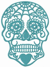 FSL skull machine embroidery design