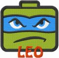 Leo tmnt embroidery design