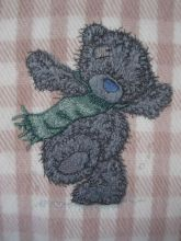 Teddy Bear winter applique