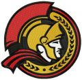 Ottawa Senators alternative logo embroidery design
