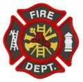 Fire Department Florian cross embroidery design