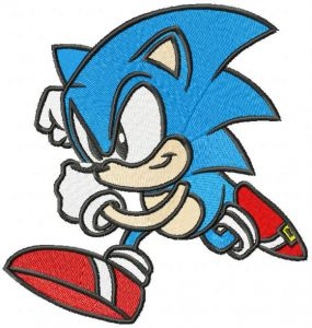 Running Sonic the Hedgehog