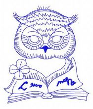 Clever owl reading a book 3