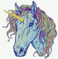 Rainbow unicorn 7 embroidery design