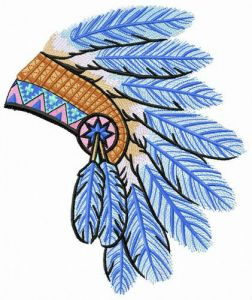 Warbonnet from blue feathers