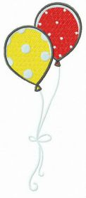 Spotted balloons machine embroidery design