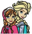 Frozen sisters 3 embroidery design