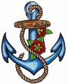 Sea anchor embroidery design