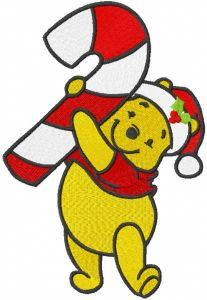 Pooh with stick candy christmas