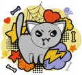 Halloween Kitty embroidery design