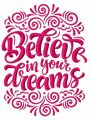 Believe in your dreams embroidery design