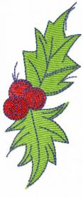 Christmas red berries free embroidery design