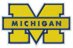 Michigan Wolverines logo machine embroidery design