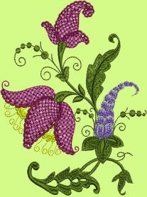 Fantasy Flowers machine embroidery design