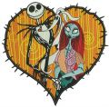 Love in Halloween town embroidery design