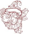 Little cute Christmas Angel embroidery design
