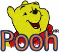Winnie the Pooh Logo 2  embroidery design