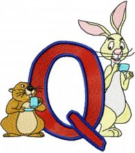 Rabbit and Gopher Alphabet Letter Q