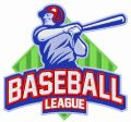 Baseball league embroidery design