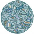 Fish time embroidery design